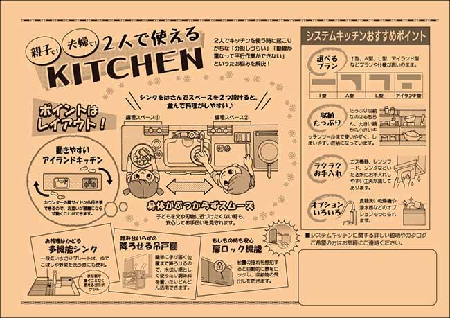 システムキッチン拡販チラシ